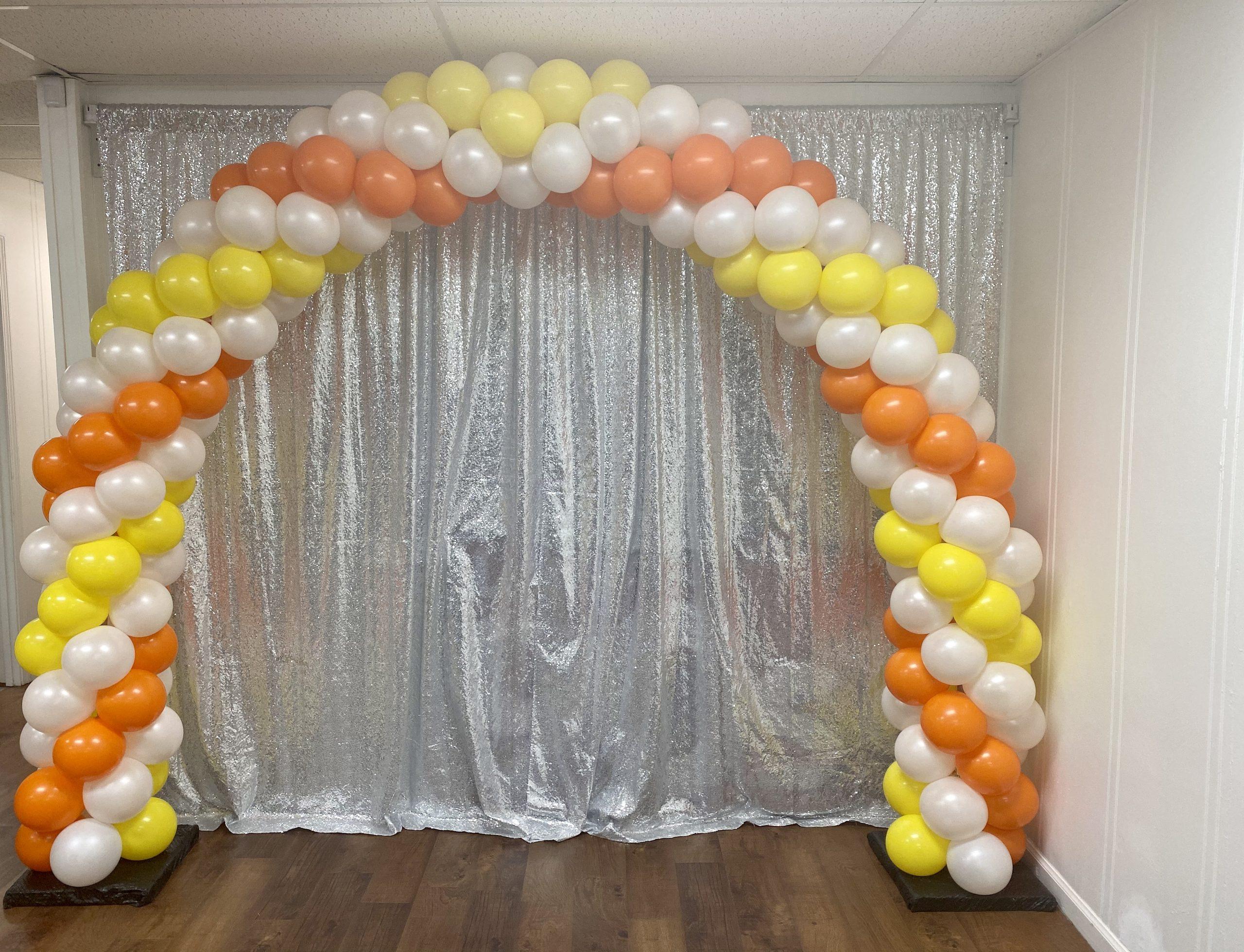 balloon arch, indoor arch