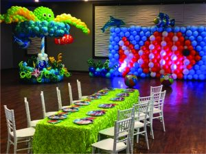 Balloon Wall, balloon carousel, fish balloon, octopus balloon